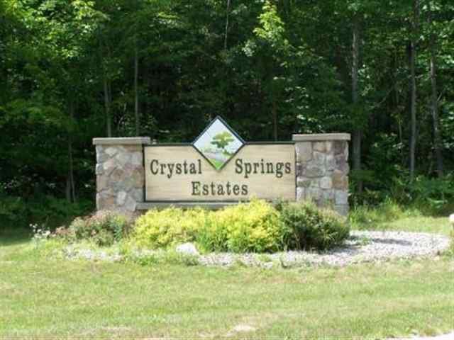 Lot #30 Crystal Springs Estates Lot #30 Cadillac MI, 49601